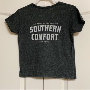 Southern Comfort Gray Graphic Crop Tee Shirt L
